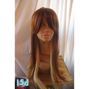 Straight ginger wig with bangs